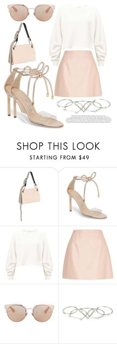 """Sunny day"" by elenkajaia on Polyvore featuring Calvin Klein Collection, Manolo Blahnik, Miss Selfridge, River Island, Christian Dior, Zimmermann, StreetStyle and statementbags"