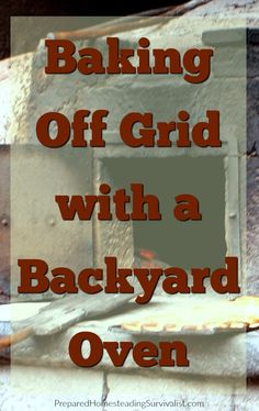 Wondering how you can survive after STHF without your stove? You can bake off-grid using this DIY homemade backyard oven. Homestead Survival, Survival Food, Emergency Preparedness, Survival Tips, Survival Skills, Outdoor Oven, Outdoor Cooking, Four A Pizza, Backyard Farming
