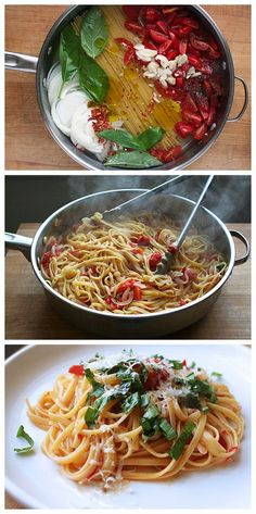 Ingredients 12 ounces linguine 12 ounces cherry or grape tomatoes