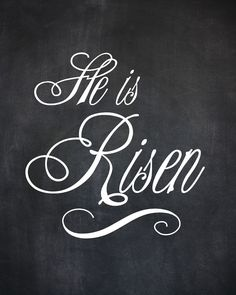 he is risen | pure & Posy