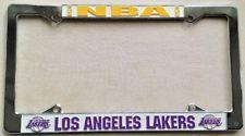 LOS ANGELES LAKERS METAL LICENSE PLATE FRAME BLACK NEW L755