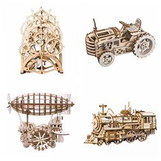 Robotime 8 Kinds DIY Gear Drive Wooden Mechanical Model Building Kits Assembly Toy Gift for Children Teens Adult LGLK Model Building Kits, Model Kits, Mechanical Gears, Wooden Gears, Gear Drive, Buy Wood, Educational Toys For Kids, 3d Models, Clay Miniatures