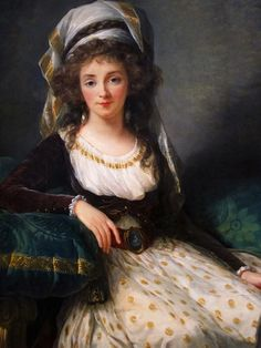 portrait of a Lady by Louise Élisabeth Vigée Le Brun at the National Gallery of Art.