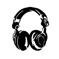 A graffiti Stencil. Silhouette Cameo, Silhouette Portrait, Silhouette Projects, Tattoo Stencils, Stencil Art, Headphones Tattoo, Music Headphones, Stencil Graffiti, Graffiti Drawing