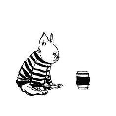 French Bulldog illustration French Bulldog Drawing a211957f05