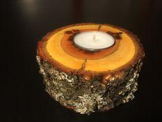 Teelichthalter aus dem Holz der Pflaume von Ernst, Fall auf DaWanda.com