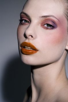 Make-up by Ellis Faas. Love the lips - Milky Lips L204 from her own range.