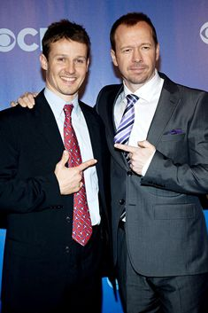 Photo of Will Estes & his friend, musician  Donnie Wahlberg