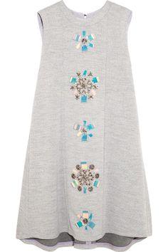 Roksanda Ilincic|Dahlia embellished jersey mini dress|NET-A-PORTER.COM