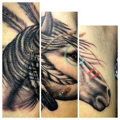 American Indian war horse  #horsetattoo so sick
