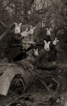 """Bunnyland"" - Photography by Alena Beljakova, Bunny# masks,# wonderland,# creepy ? Film Noir Fotografie, Arte Obscura, Psy Art, Bizarre, Dark Photography, Macabre Photography, Horror Photography, Arte Horror, Illustration"