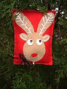 Hand-Stitched Gingerbread Rudy Reindeer Felt Christmas /ornament by MyDisgustedCats, $8.00