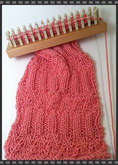 Pattern Reveal-Abbey Scarf « Knitting Board Blog Loom Scarf, Loom Knitting Stitches, Knifty Knitter, Loom Knitting Projects, Sock Knitting, Knitting Tutorials, Knitting Machine, Cross Stitches, Vintage Knitting