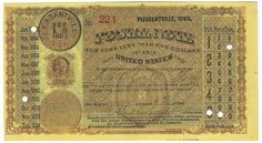 Pleasantville, IA 1883 Postal Note #224 Issued for 2 cents; payable at Chesterfield, MA
