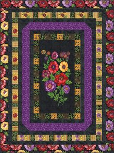 The Flowers of Tuscany quilt pattern is an easy but stunning way to showcase your favorite panels. Quilting Tutorials, Quilting Designs, Quilting Ideas, Pink Quilts, Baby Quilts, Patchwork Patterns, Quilt Patterns, Beginning Quilting, Scrapbook Layout Sketches
