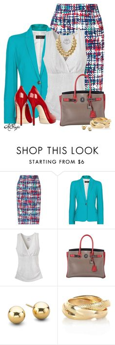 """Bright Office Style"" by kginger ❤ liked on Polyvore featuring L.K.Bennett, MANGO, Jimmy Choo, Hermès, River Island and Hive & Honey"
