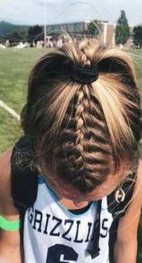 70 Trendy Sport Hairstyles Softball Short Hair Braided Ponytail Hairstyles Volleyball Hairstyles Sporty Hairstyles