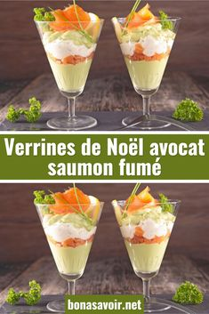 Kerstmis verrines avocado met gerookte zalm - Apocalypse Now And Then Healthy Crockpot Recipes, Healthy Cooking, Simple Avocado Toast, Homemade French Toast, Apple And Peanut Butter, Brunch, Xmas Dinner, Food Buffet, Xmas Food