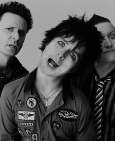green day Billie Joe Armstrong, Mike Dirnt, and Tre' Cool