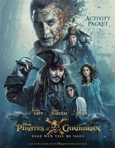 Click here to download the printable Pirates Of The Caribbean: Dead Men Tell No Tales activity packet, and have a Pirates Life of a time.