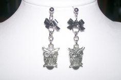 Dangling Owl Earrings  On Sale  Was 15 now on by WinningWreaths