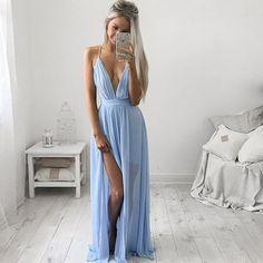 SLING CHIFFON STITCHING DRESS