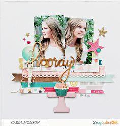 Papercrafting ideas: scrapbook layout idea. #papercraft #scrapbooking #layouts