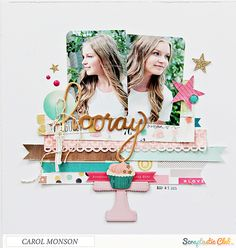 Papercrafting ideas: scrapbook layout idea. #papercraft #scrapbooking #layouts