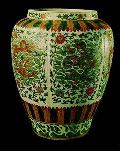 Escultura de cerámica china.  Vasija