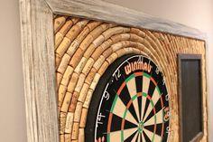 Wine Cork Dartboard Backer and Scoreboard Game by OldDogOriginals
