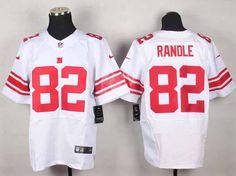 Nike New York Giants 82 Rueben Randle White Elite NFL Jerseys