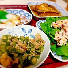 好きな物ばかりー! - 3件のもぐもぐ - 豚オクラ、冷しゃぶサラダ、クロギ by hrknaaakg1215
