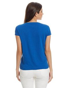 LadyIndia.com # Tops, Girls T Shirt Online Blue Color Printed T-Shirt Ladyindia10, Casual Wear, TOPS & SHIRTS, Western Wear, Tops, Tees, Shirts, https://ladyindia.com/collections/western-wear/products/girls-t-shirt-online-blue-color-printed-t-shirt-ladyindia10?variant=36579608397