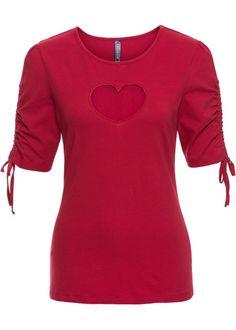Bonprix tShirt, RAINBOW red rood heart cutout hart