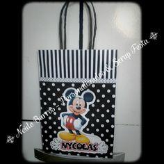 Sacola Mickey #personalizados #scrapfesta #mickey #lovescrapfesya #neidebarrospersonalizados
