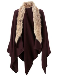 Cosy up and create style envy in a faux fur poncho #autumnadventures