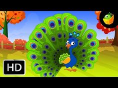 """Watch this graceful Peacock and other animals in the forest and dance to this catchy song. """"Kid's rhymes are not easy to frame, especially when it means havi. Kids Rhymes Songs, Rhymes For Kids, Tamil Language, Beauty Full Girl, Symbols, Animation, Children, Mousse, Youtube"""