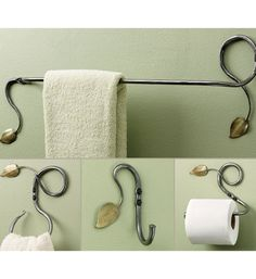 steel leaf bath accessories kit