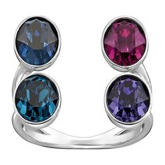 cool Swarovski Eminence Wide Open Ring Rhodium-plated