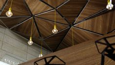 hanging wood planks on ceiling - Google Search