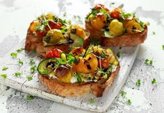 Appetisers, Bruschetta, Vegetable Pizza, Ham, Food And Drink, Snacks, Vegetables, Ethnic Recipes, Anna