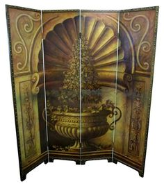 Elegant hand painted room divider - $595.