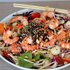 12 Easy Shrimp Salads Ready in about 30 Minutes Soba Salad, Breaded Shrimp, Cooked Shrimp, Noodle Bowls, Noodle Salads, Recipe Creator, Food Garnishes, Soba Noodles, Pasta