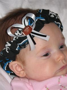Favorite Sports Team  This is Carolina Panthers Football  I also have Redskins, Cowboys and a few other NFL teams. I have a few College Logo headbands as well.  Carlykins Boutique Baby Girl Hair Bow Head by CarlykinsBoutique, $5.25