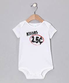 Love this LA Imprints White 'Kisses' Bodysuit - Infant by LA Imprints on #zulily! #zulilyfinds