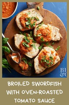 Create a Mediterranean seafood dinner tonight! Oven-roasted tomatoes add natural sweetness to the sauce complimented by rosemary, onion, garlic, and just a bit of heavy cream for touch of decadence. Oven Roasted Tomatoes, Roasted Tomato Sauce, Seafood Dinner, Roma Tomatoes, Dinner Tonight, How To Make Cake, My Recipes, Food Processor Recipes, Onion