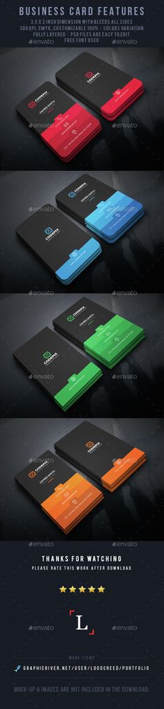 Color Shade Business Card V.2