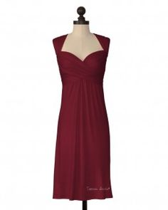 The Texas State University Criss Crossed Dress in Maroon