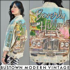 Tony Alamo hand airbrushed denim jacket @Bus Town Modern