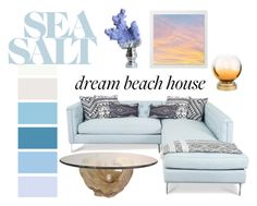 """""""Sunset beach house"""" by jziegler731 ❤ liked on Polyvore featuring interior, interiors, interior design, home, home decor, interior decorating and cupcakes and cashmere"""